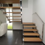 escalera-libreria-roble-macizo